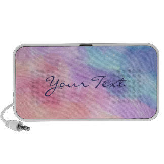 Personalized Pink and Blue Watercolor Laptop Speaker