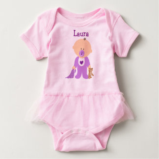 Personalized Pink Baby Tutu Baby Bodysuit