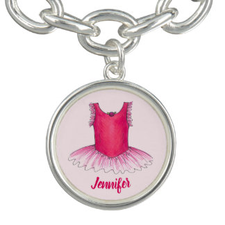 Personalized Pink Ballerina Tutu Ballet Dance Gift