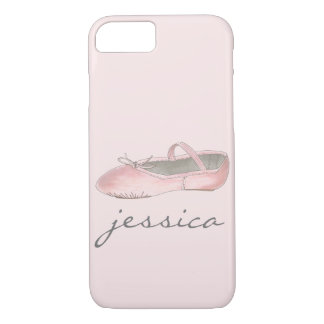 Personalized Pink Ballet Shoe Dance Ballerina iPhone 8/7 Case