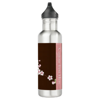 Personalized Pink/Brown Dogwood Blossom 710 Ml Water Bottle