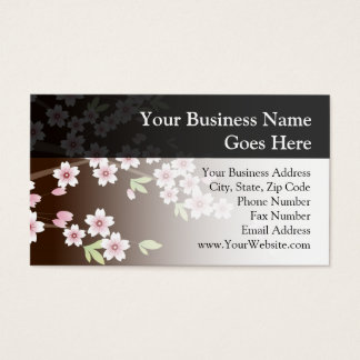 Personalized Pink/Brown Dogwood Blossom Business Card