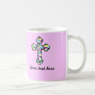 Personalized Pink Cross Mugs
