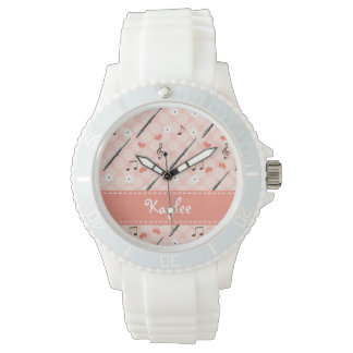 Personalized Pink Flute Watch