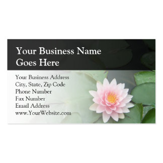 Personalized Pink/Green Lily Pad Business Card Templates