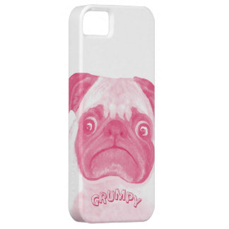 Personalized PINK Grumpy Puggy Barely There iPhone 5 Case