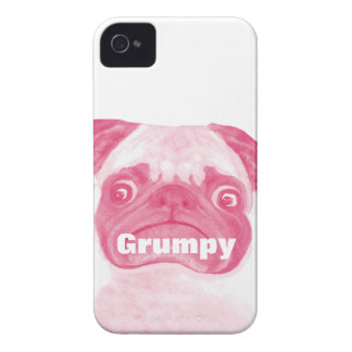 Personalized PINK Grumpy Puggy iPhone 4 Case-Mate Case