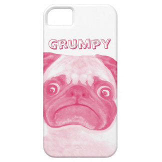 Personalized PINK Grumpy Puggy iPhone 5 Cases