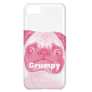 Personalized PINK Grumpy Puggy iPhone 5C Case
