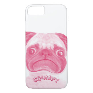 Personalized PINK Grumpy Puggy iPhone 7 Case