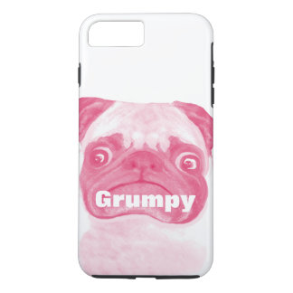 Personalized PINK Grumpy Puggy iPhone 7 Plus Case