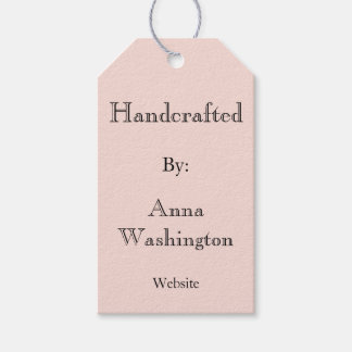 Personalized Pink Handcrafted Tag