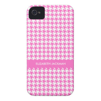 Personalized Pink Houndstooth BlackBerry Bold Case
