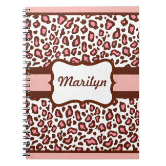 Personalized Pink Leopard Notebook Journal Gift