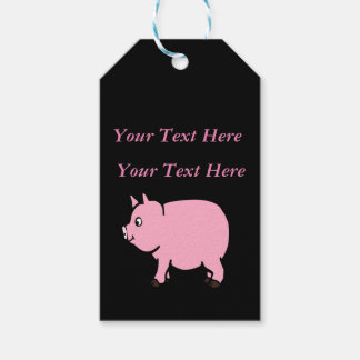 Personalized Pink Mini Pig Gift Tags