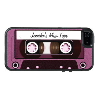 Personalized Pink Mix Tape OtterBox iPhone 5/5s/SE Case