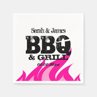 Personalized pink napkins for BBQ wedding party Disposable Serviette