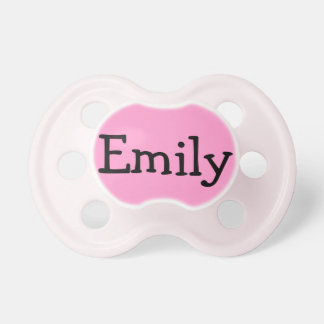 Personalized Pink Pacifier