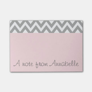 Personalized Pink Post It Notes Office Gift