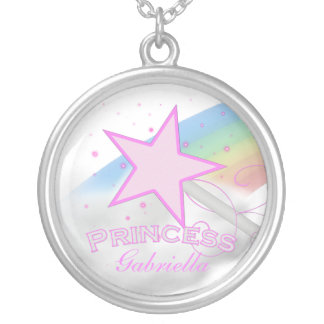 Personalized Pink Princess Necklace
