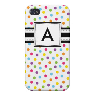Personalized Pink Purple Polka Dots iPhone 4/4S Case