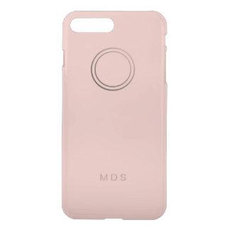 Personalized Pink Rose Monogram iPhone 8 Plus/7 Plus Case