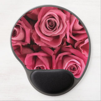 Personalized Pink Roses girly Gel Mouse Pad