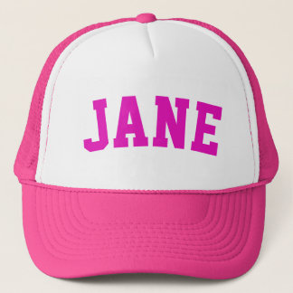 Personalized Pink Short Name Trucker Hat