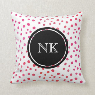 Personalized pink spot pillow