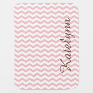 Personalized Pink Zigzag Custom Baby Blanket
