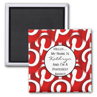 Personalized Pinterest Addict Magnet