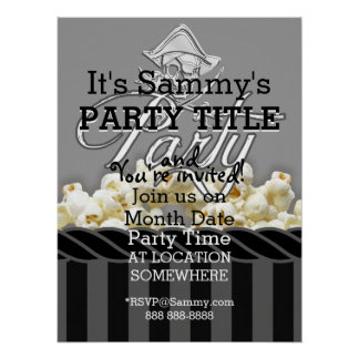 Personalized Pirate Day Party Poster