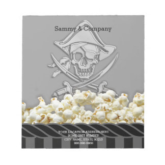 Personalized Pirate Party Notepad