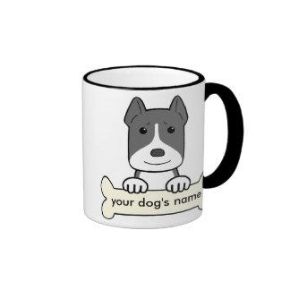 Personalized Pitbull Ringer Mug