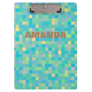 Personalized Pixel Art Multicolor Pattern Clipboard