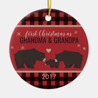Personalized Plaid Grandparent's Ornament
