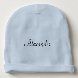 Personalized Plain Baby Boy Name Blue or White Baby Beanie