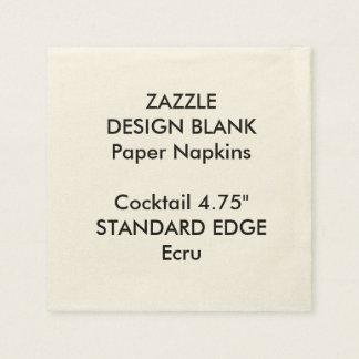 Personalized Plain Edge Cocktail Paper Napkins