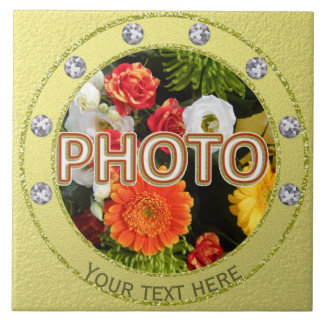 Personalized plaque with photo ceramic tile