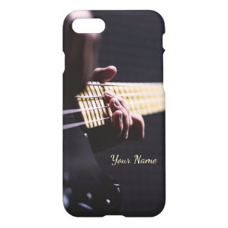 Personalized Playing Bass Guitar Close Up iPhone 8/7 Case