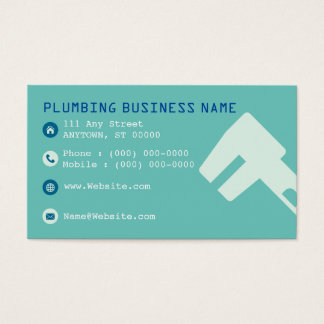 Personalized Plumbing Business Cards - 100