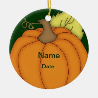 Personalized Plump Pumpkin Halloween Ornament