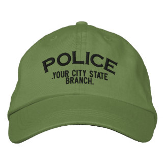 Personalized Police Hat Embroidered Cap