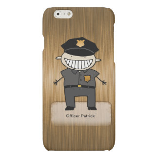 Personalized Police Officer Cartoon Custom Name