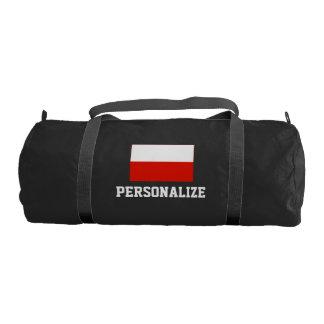 Personalized Polish flag duffle gym bag | Poland Gym Duffel Bag