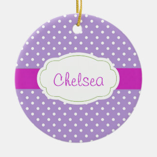 Personalized Polka Dot Ornament