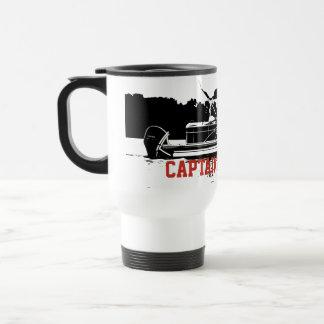 Personalized Pontoon Boat Travel Mug in Black