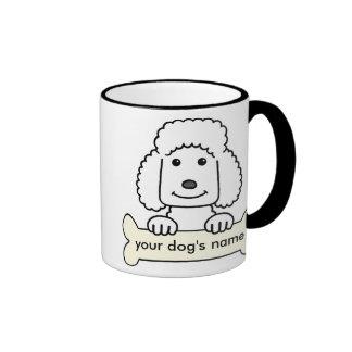 Personalized Poodle Ringer Mug