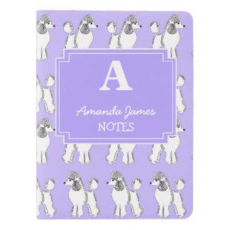 Personalized Poodles Lavender Monogram Notebook