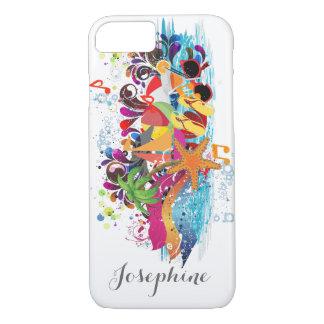 Personalized Pop Art Retro Beach phone case
